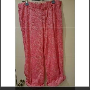 PINK v/s pink and white Pj Bottoms Size Medium